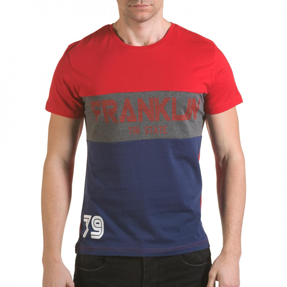 Tricou bărbați Franklin roșu il170216-13