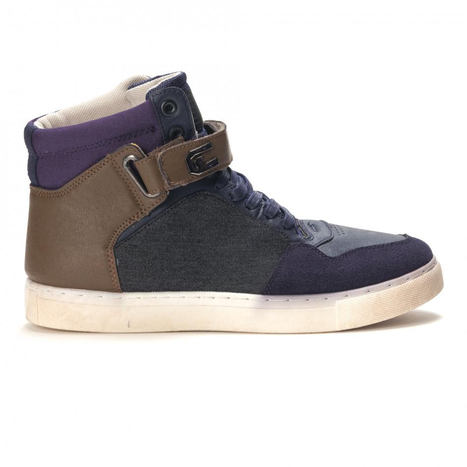 Pantofi sport bărbați Reeca albaștri it100915-19