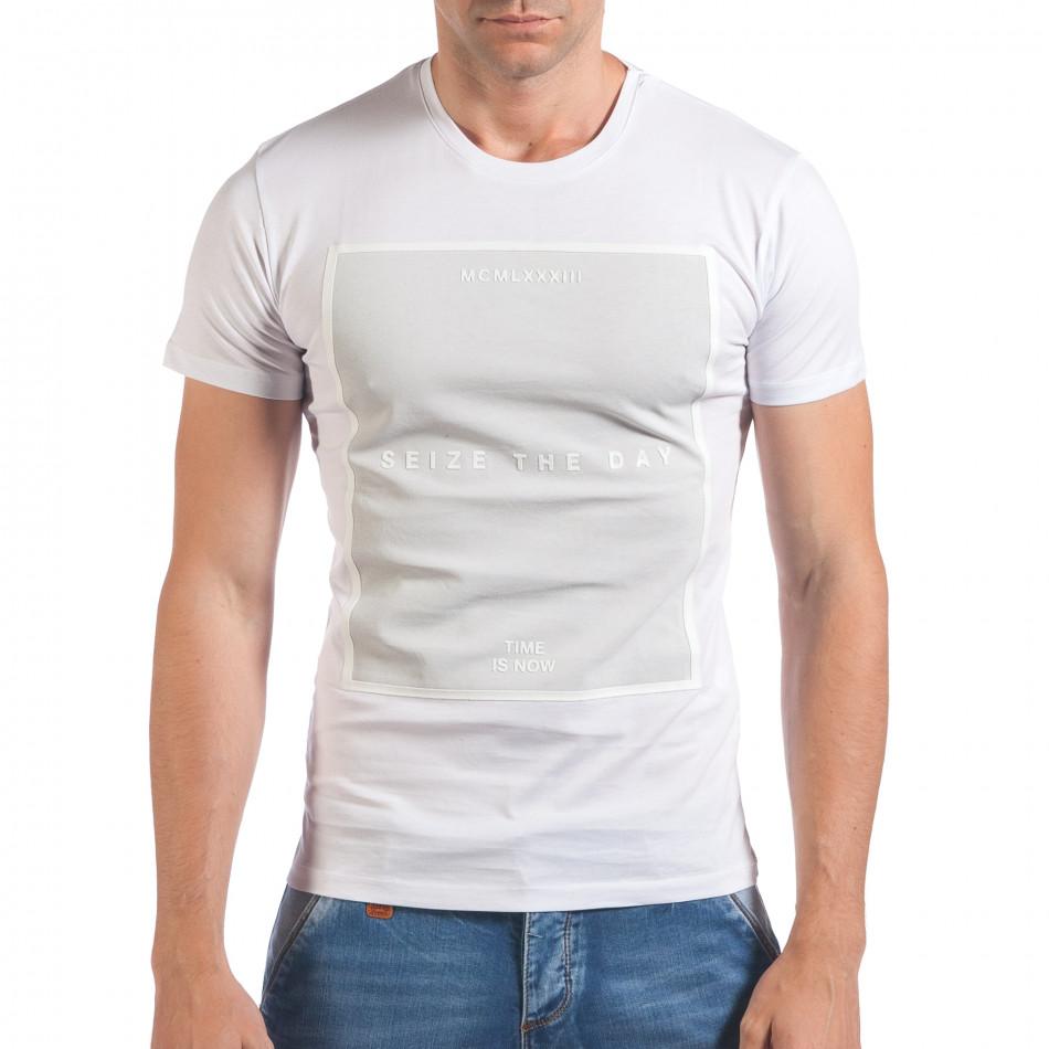 Tricou bărbați SAW alb il060616-28