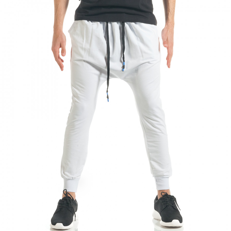 Pantaloni baggy bărbați Black Fox albi it300317-23