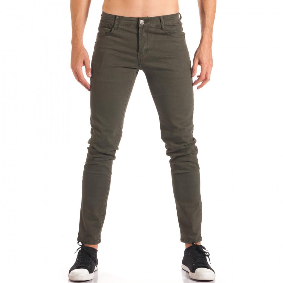 Pantaloni bărbați G-9 verzi it150816-5