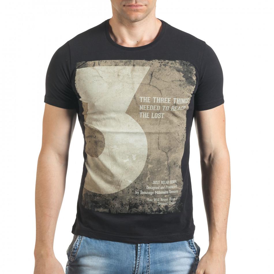 Tricou bărbați Just Relax negru il140416-34