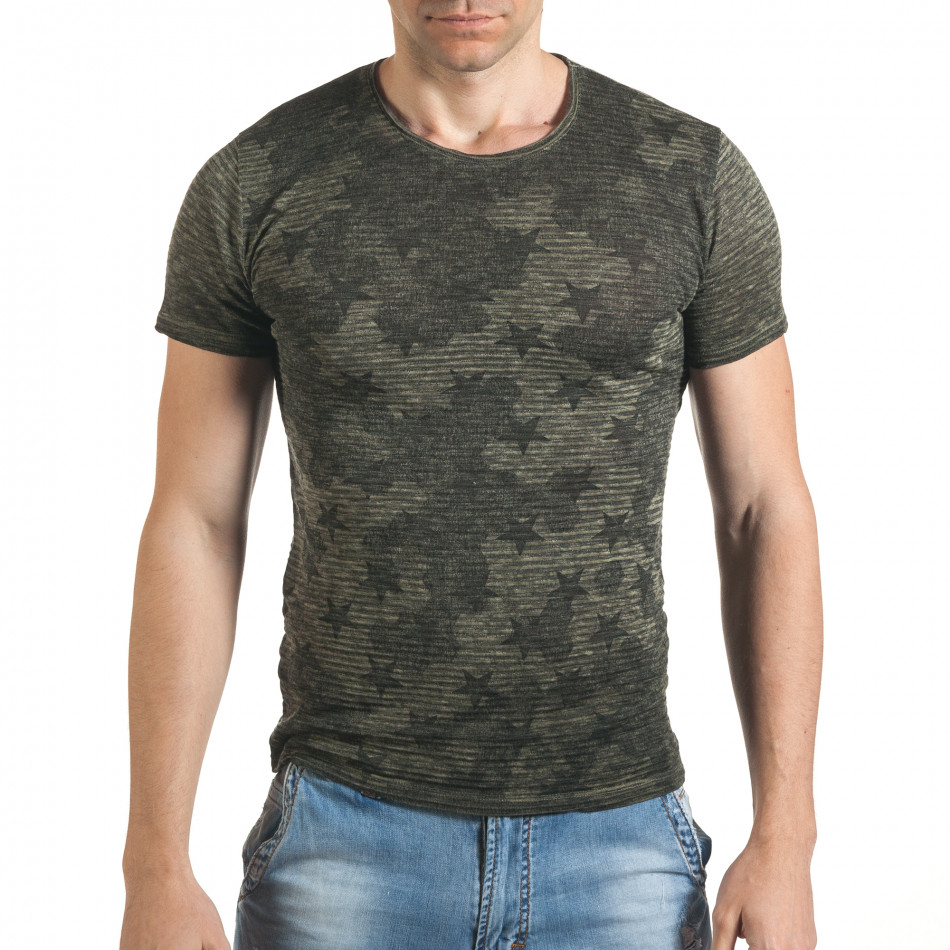 Tricou bărbați Lagos negru tsf060416-3