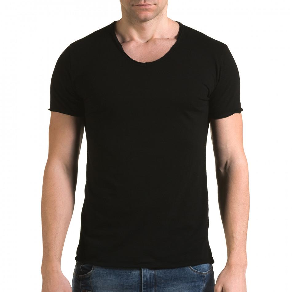 Tricou bărbați FM negru it090216-78