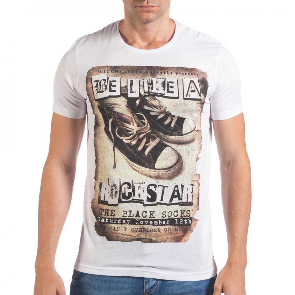 Tricou bărbați Just Relax alb il060616-8