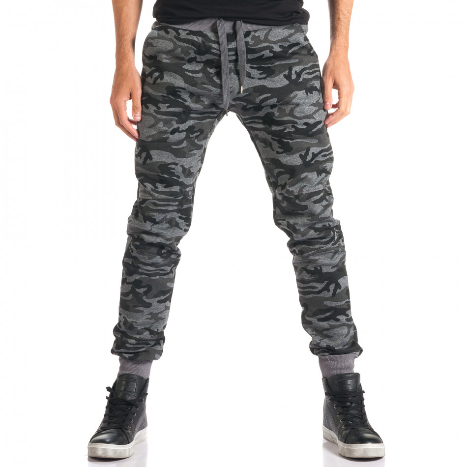 Pantaloni bărbați New Mentality camuflaj ca280916-10