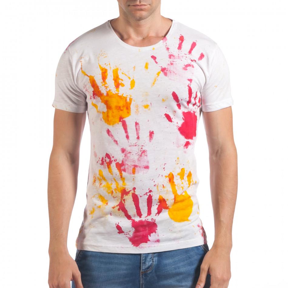 Tricou bărbați Lagos alb il060616-48