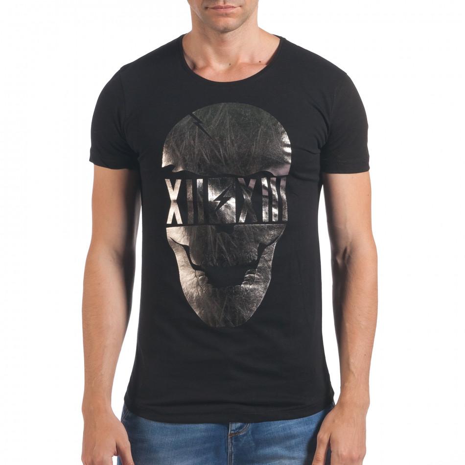 Tricou bărbați Eksi negru il060616-75