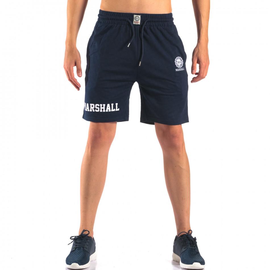 Pantaloni scurți bărbați Marshall albaștri it160616-3