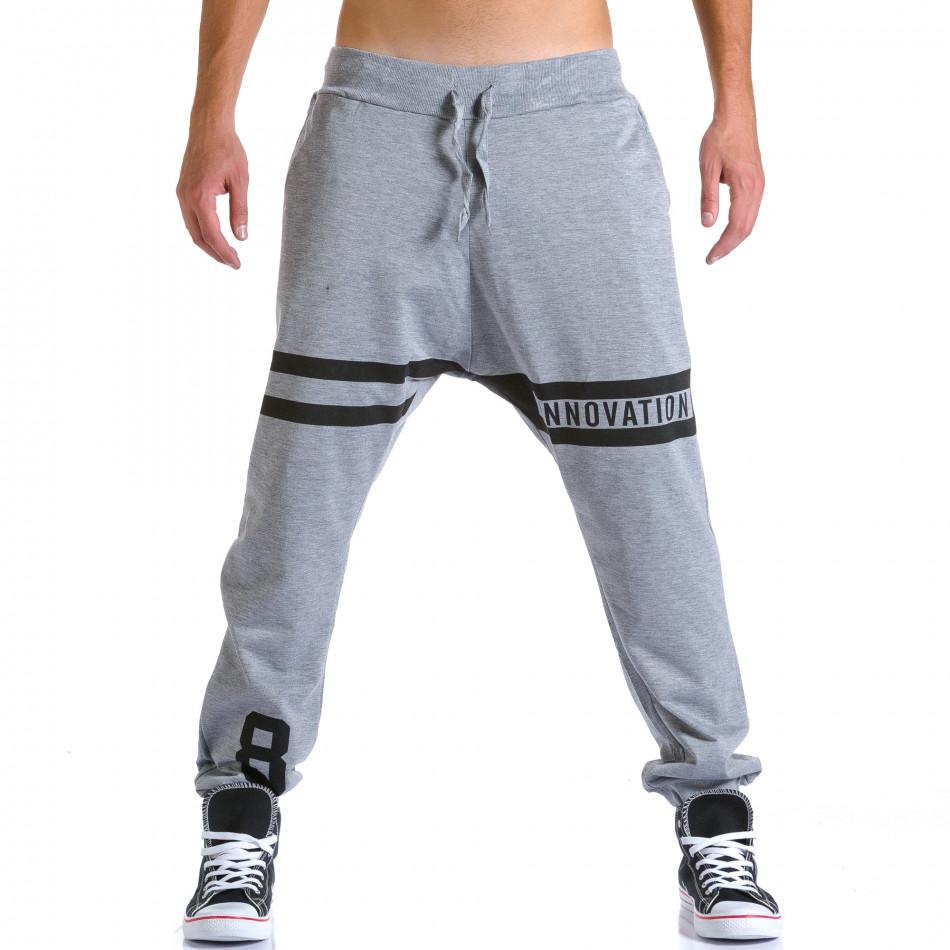 Pantaloni baggy bărbați Eadae Wear gri ca260815-29