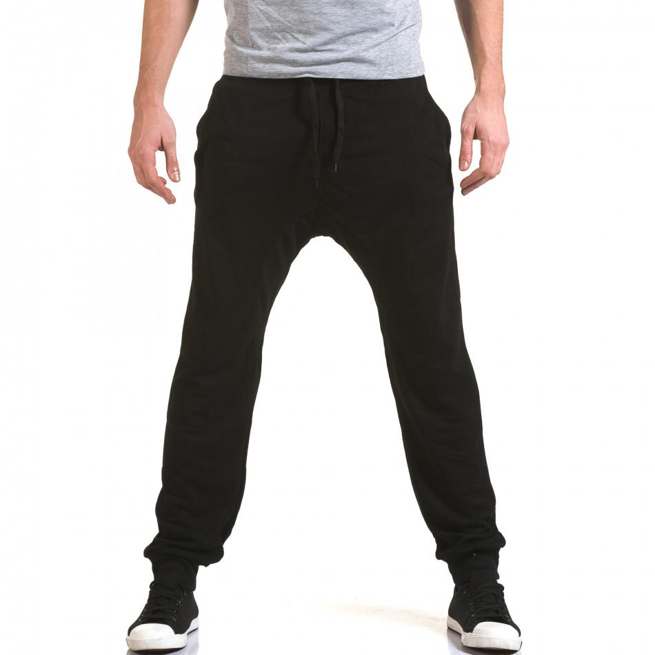 Pantaloni baggy bărbați Dress&GO negri it090216-39