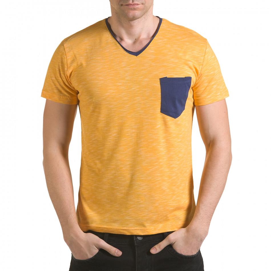 Tricou bărbați Franklin galben il170216-16