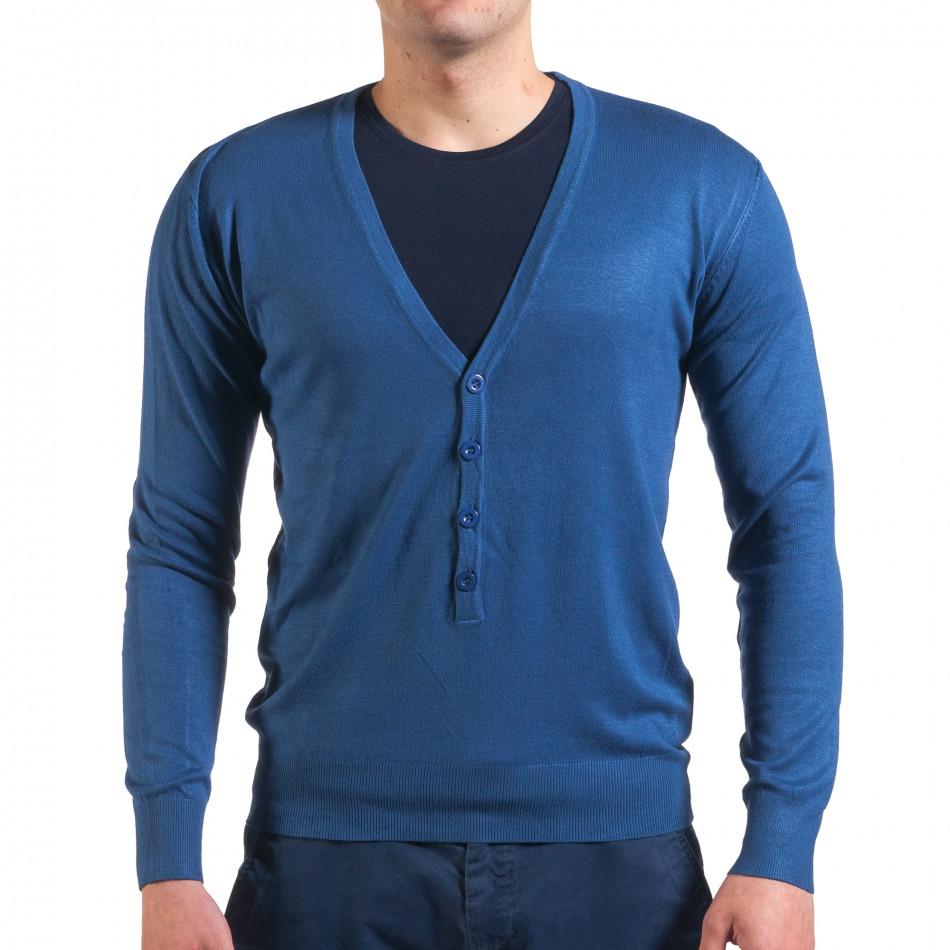 Pulover bărbați Invictus albastru it010416-4