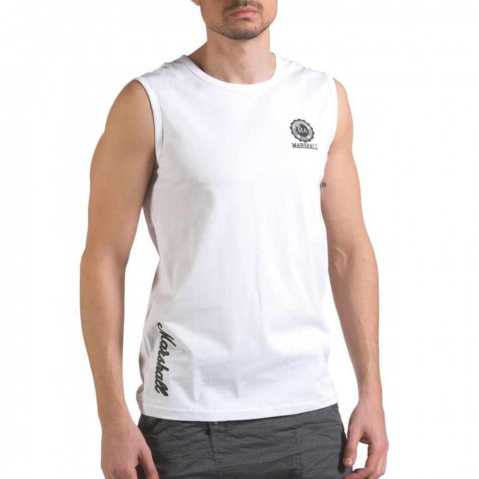 M Bel Marshall maieu bărbați marshall alb it110316 91 fashionmix ro