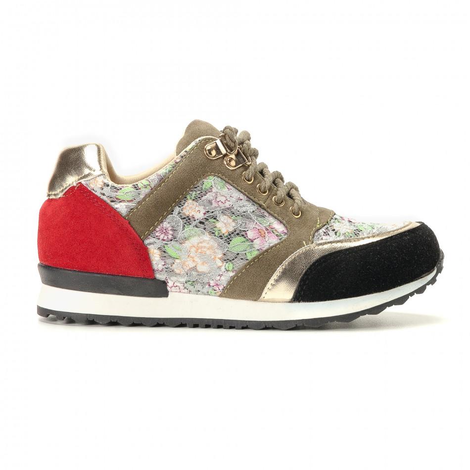 Pantofi sport de dama R's curcubeu it200917-53