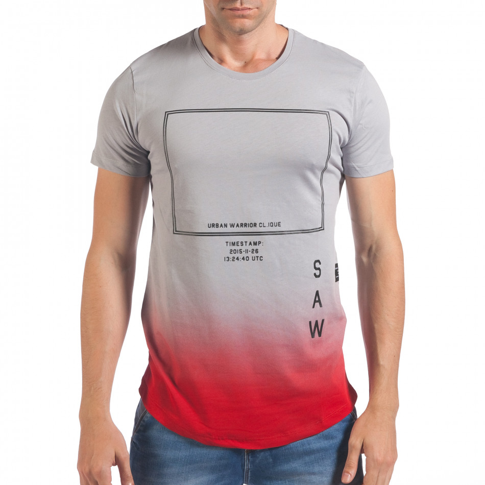 Tricou bărbați SAW gri il060616-27