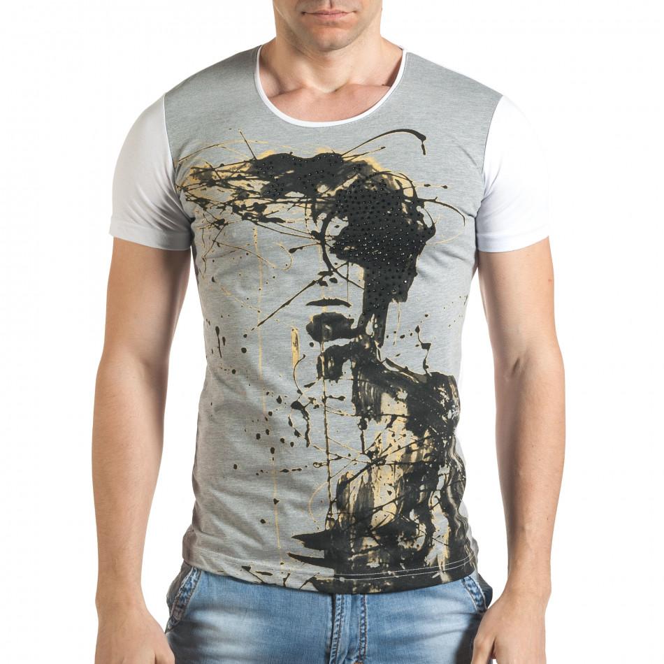 Tricou bărbați Eksi gri il140416-6