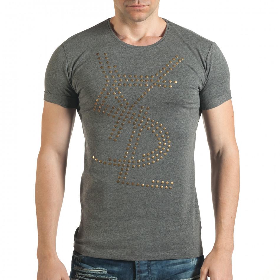 Tricou bărbați Lagos gri il140416-66