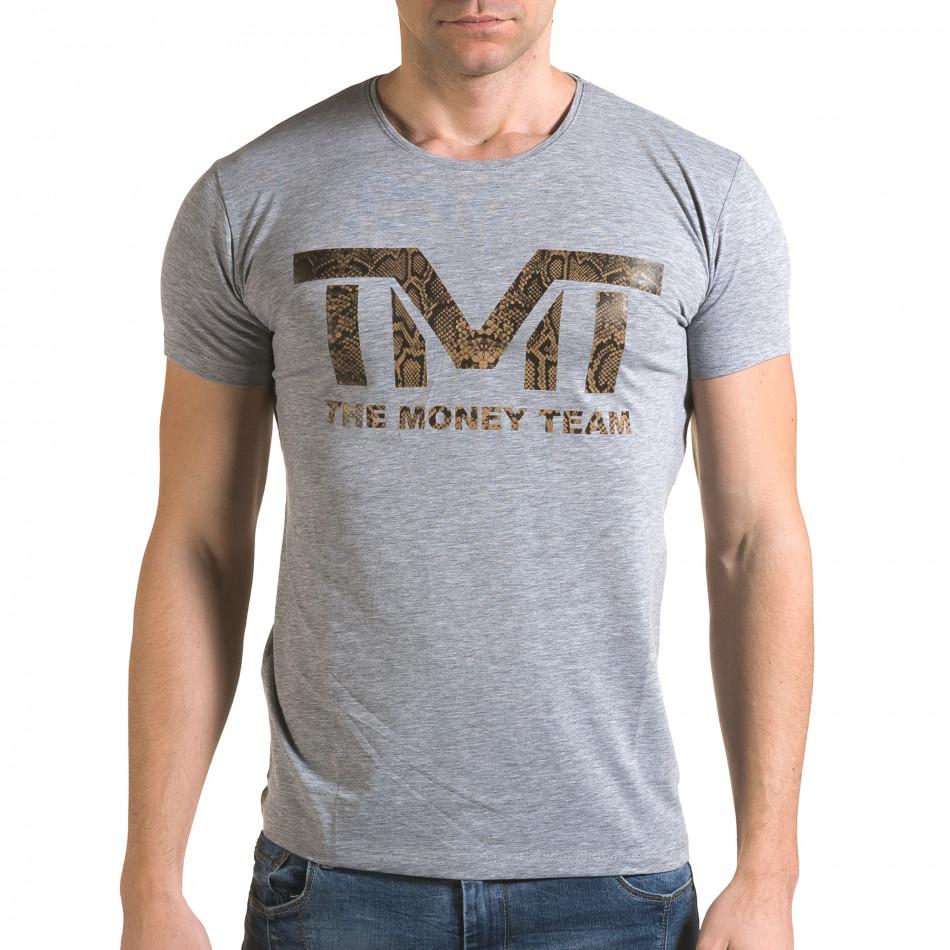 Tricou bărbați Glamsky gri il120216-62