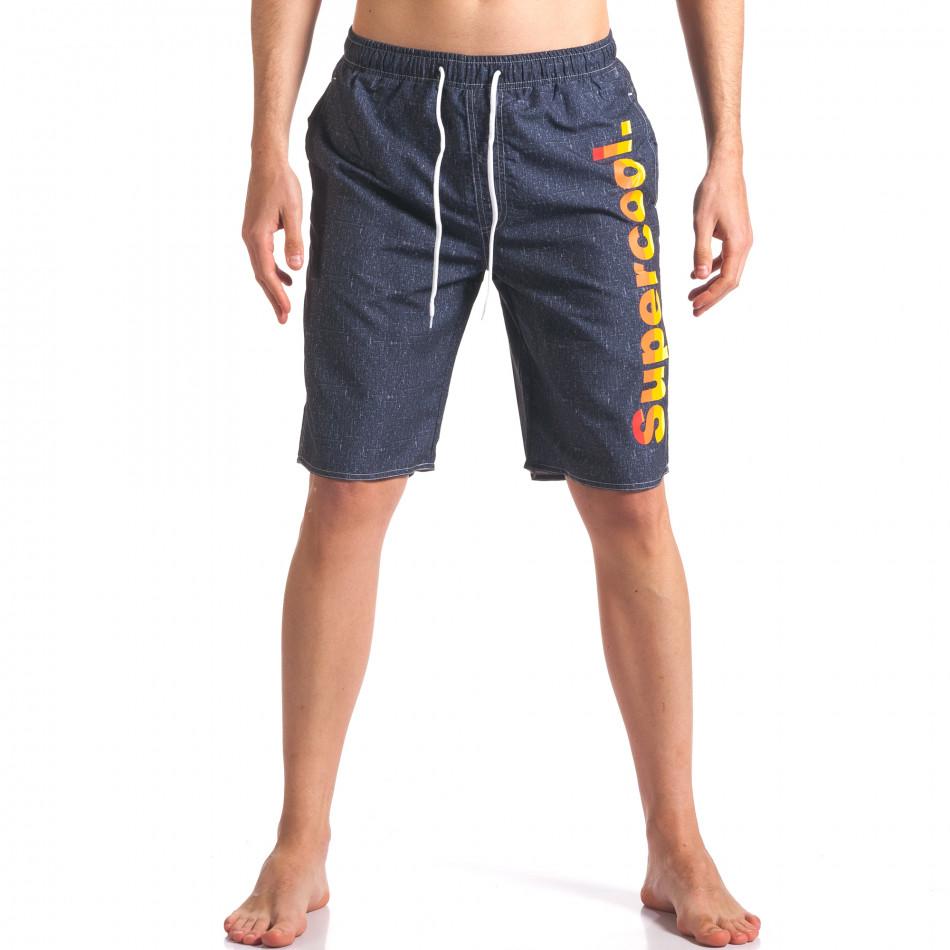 Costume de baie bărbați Austar Jeans gri it250416-47