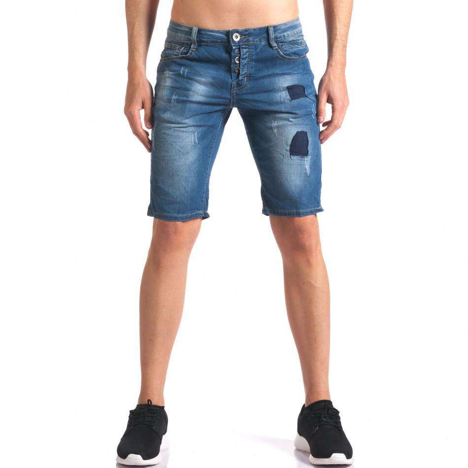 Blugi scurți bărbați Yan's Jeans albaștri it250416-33