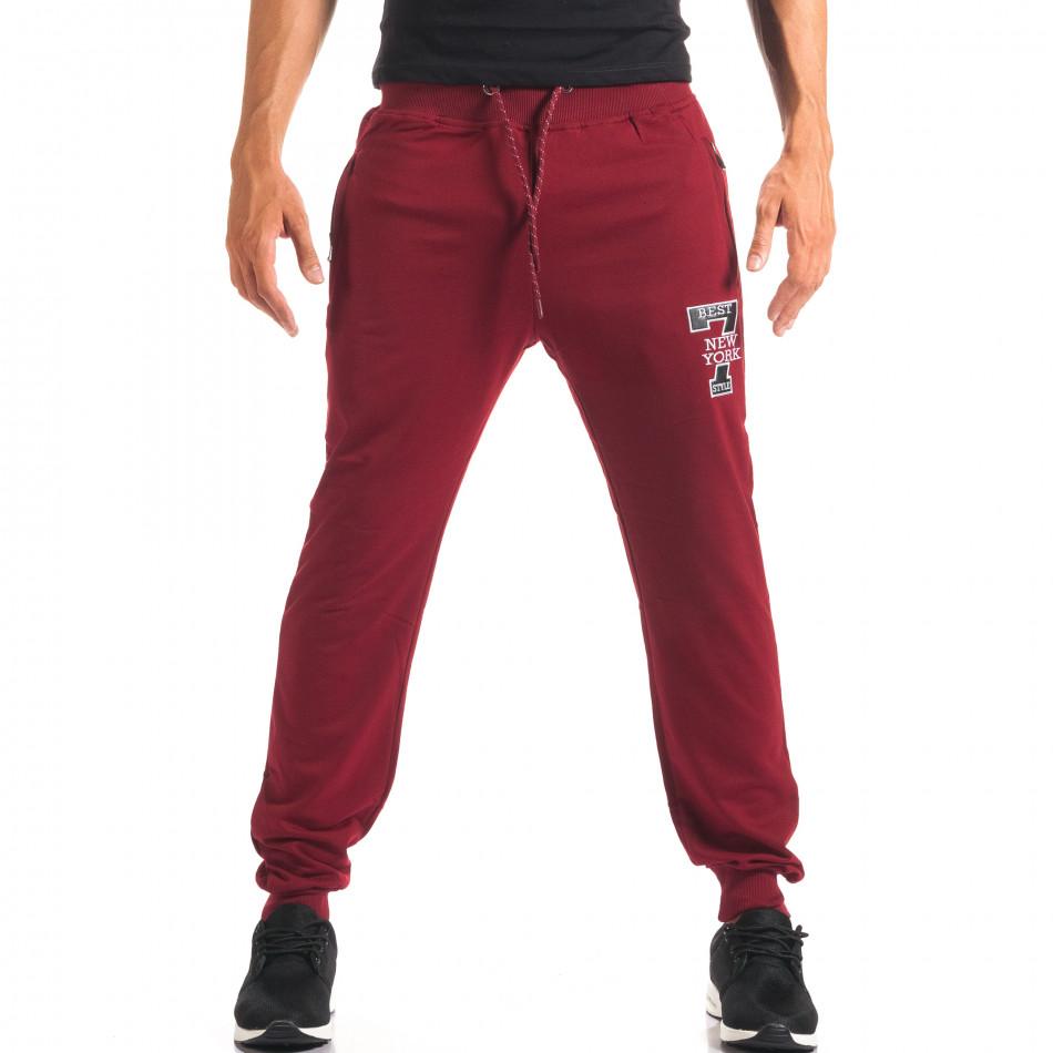 Pantaloni sport bărbați Top Star roșu it160816-32