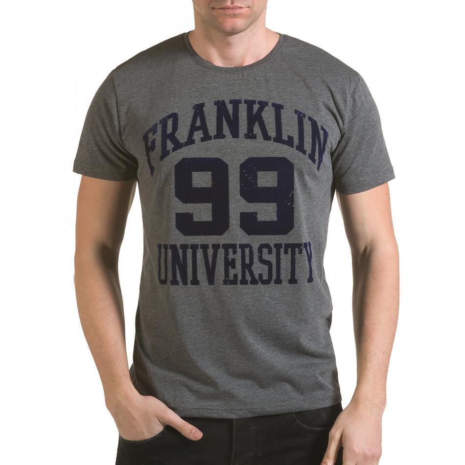 Tricou bărbați Franklin gri il170216-2
