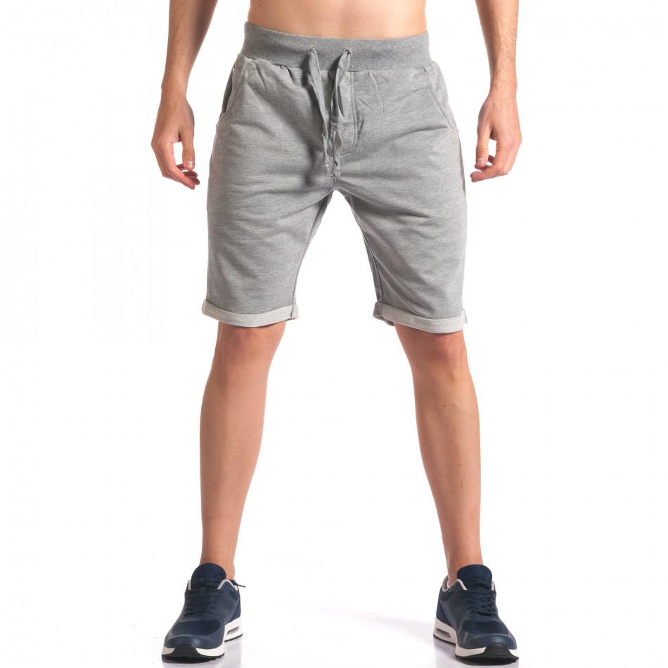 Pantaloni scurți bărbați New Men gri it260416-28
