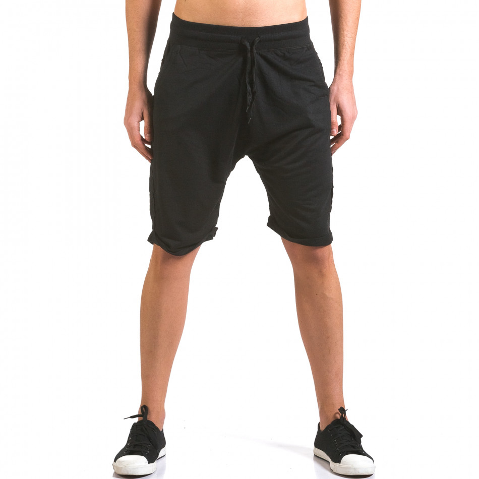 Pantaloni scurți bărbați Dress&GO negri it160316-24