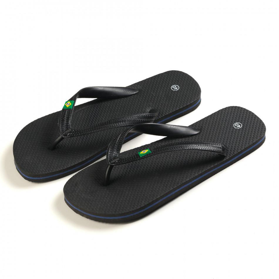 Papuci bărbați FM negri it150616-1