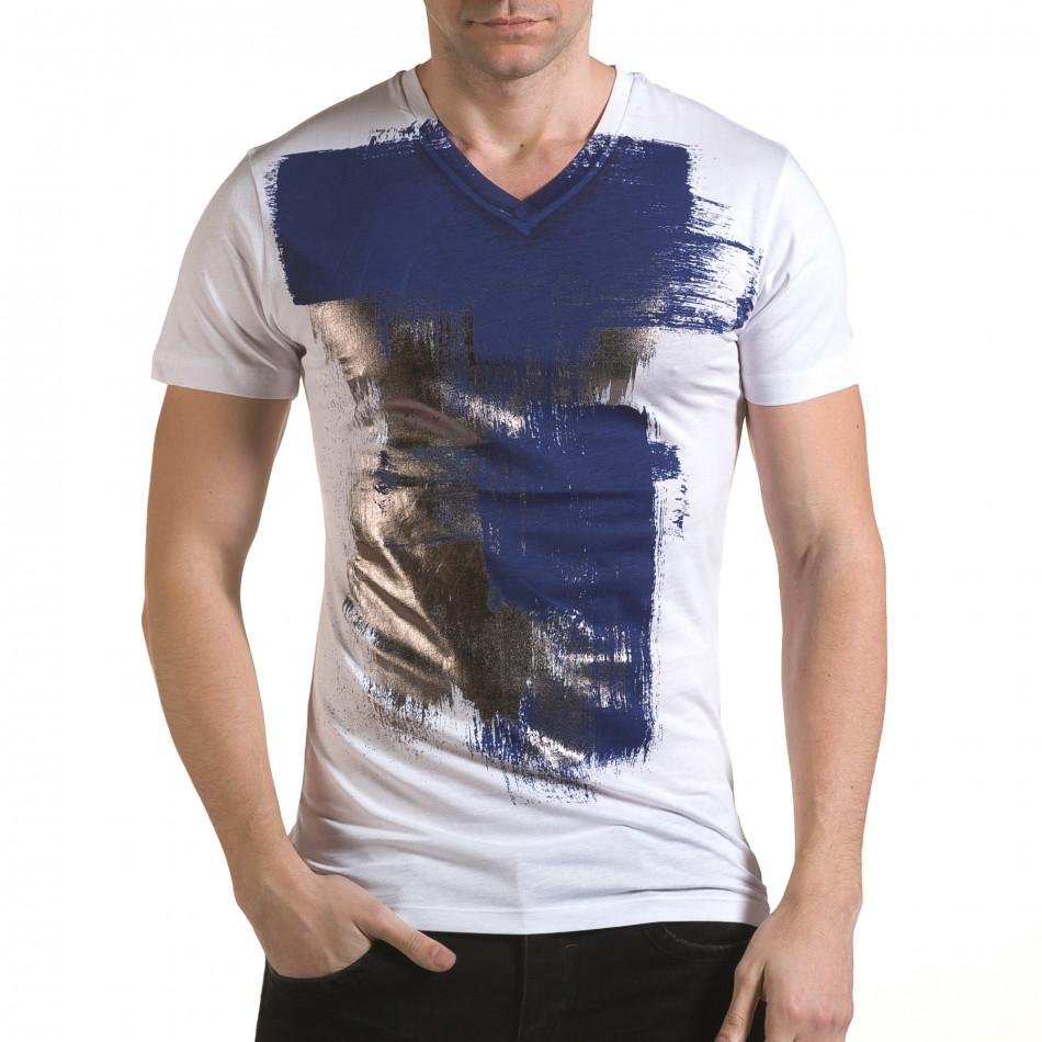 Tricou bărbați SAW alb il170216-44
