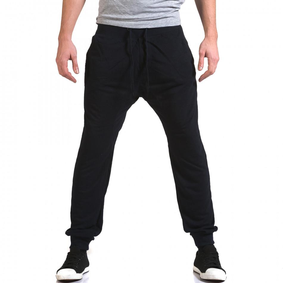 Pantaloni baggy bărbați Dress&GO albaștri it090216-40