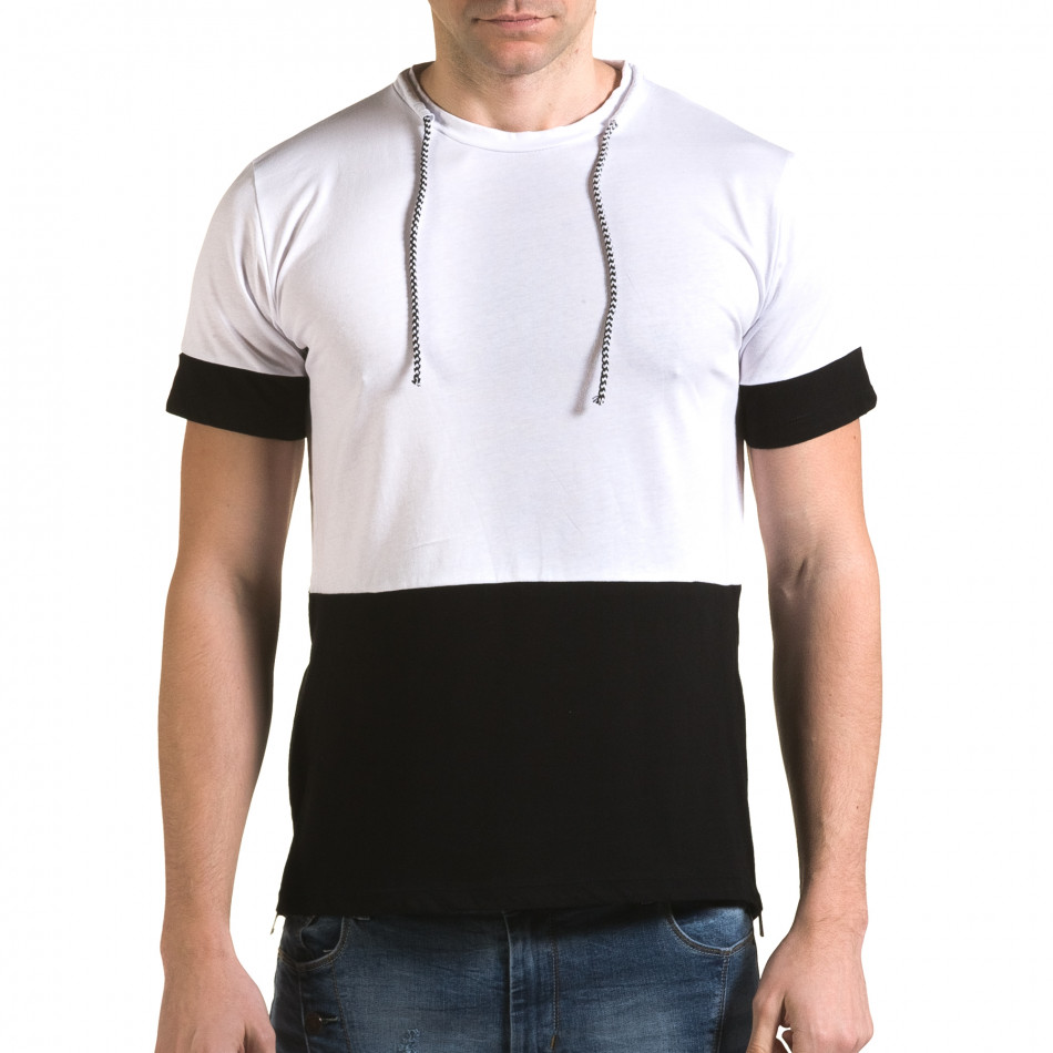 Tricou bărbați Man alb it090216-70