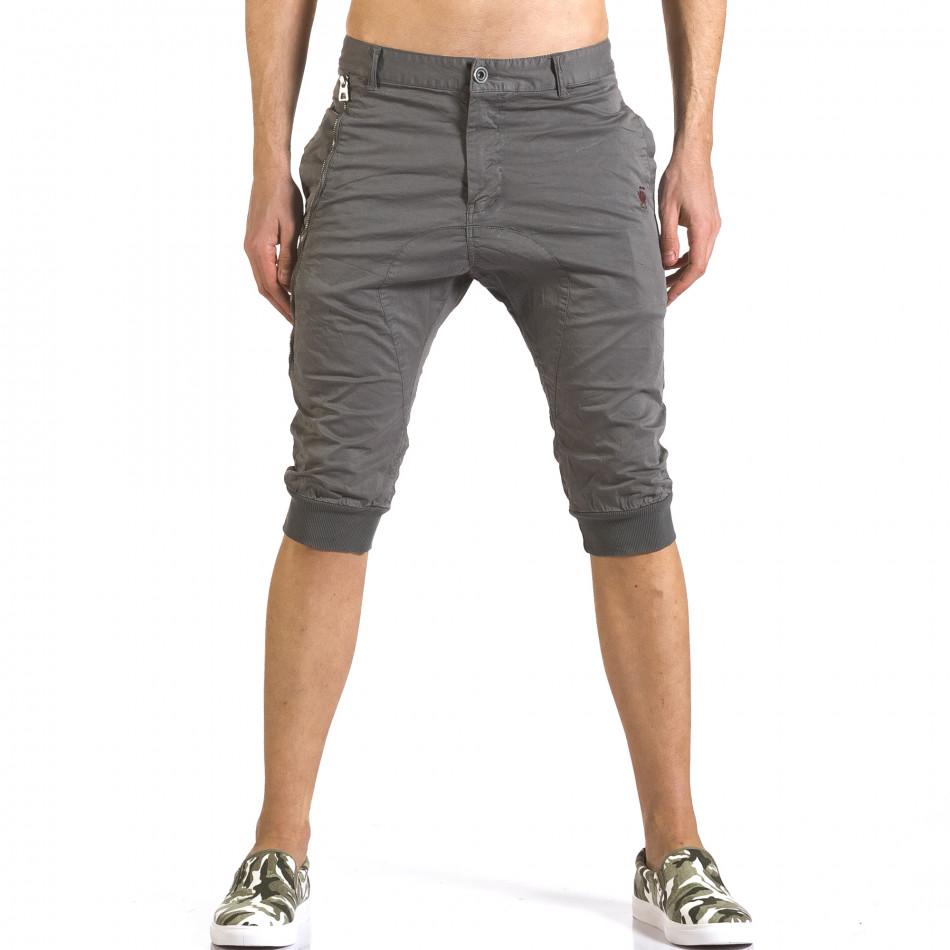 Pantaloni scurți bărbați TMK gri it110316-51