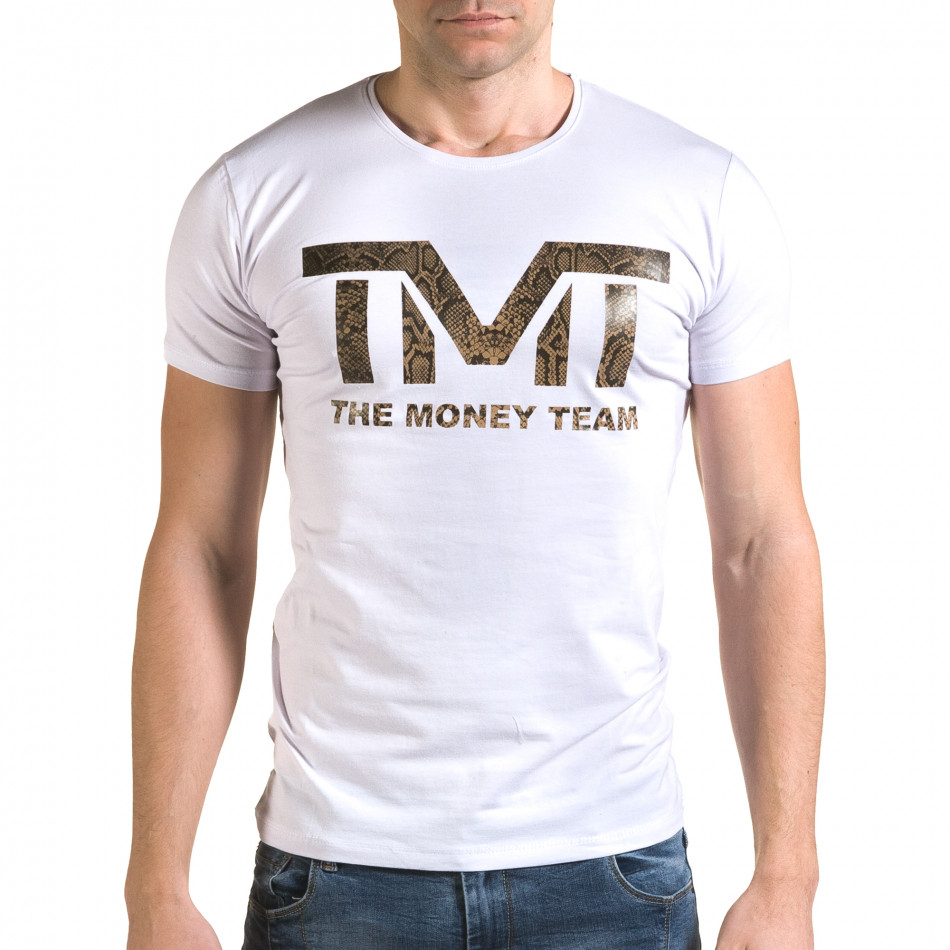 Tricou bărbați Glamsky alb il120216-63