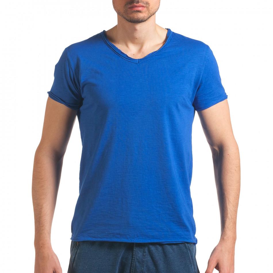 Tricou bărbați FM  albastru it260416-47