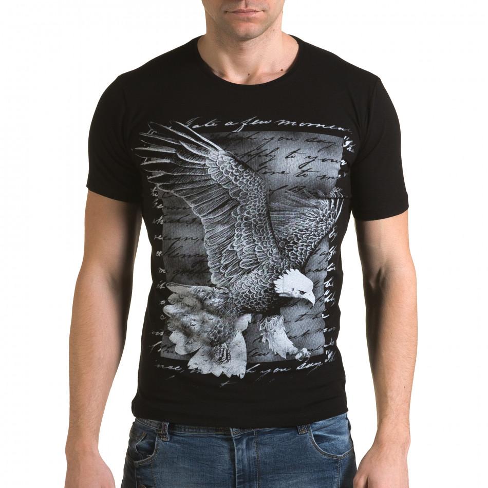 Tricou bărbați Lagos negru il120216-51