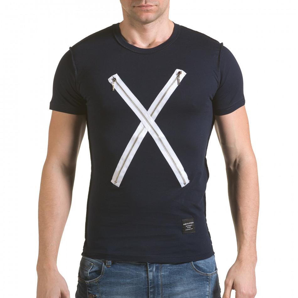 Tricou bărbați SAW albastru il170216-58