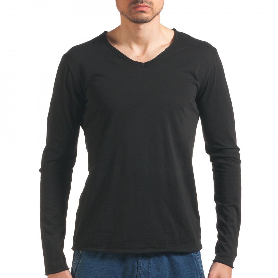 Bluză bărbați Man neagră it260416-49