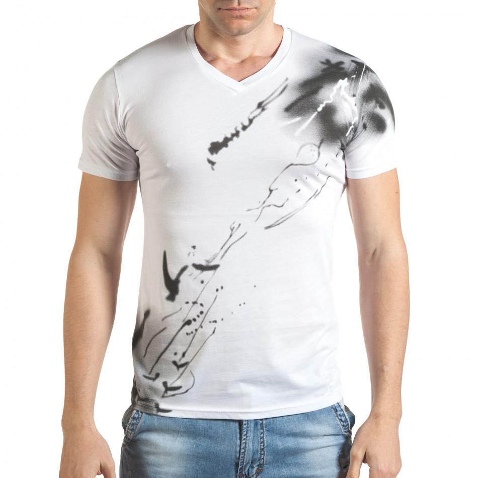 Tricou bărbați Blitz alb tsf140416-75