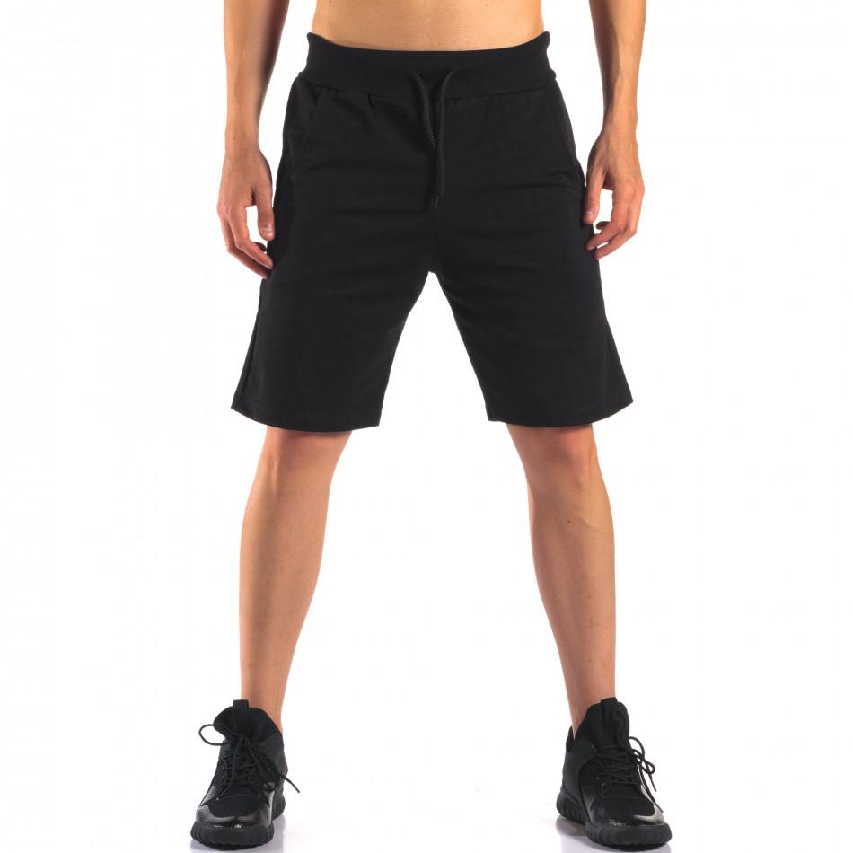 Pantaloni scurți bărbați Social Network negri it160616-11