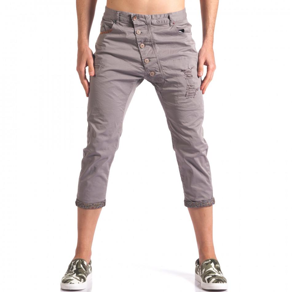 Pantaloni bărbați TMK gri it250416-27