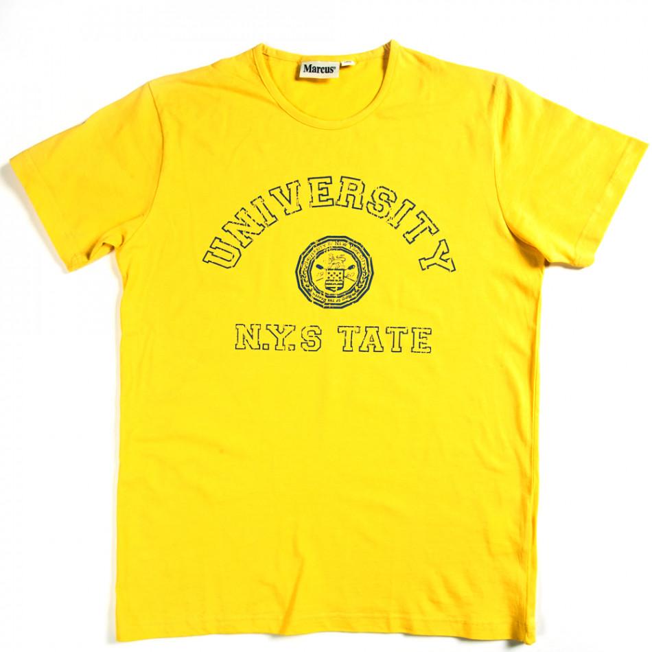 Tricou bărbați Marcus galben 070213-1
