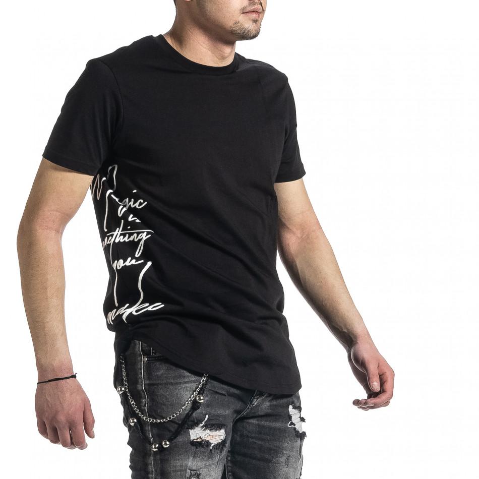 Tricou bărbați Breezy negru tr270221-50