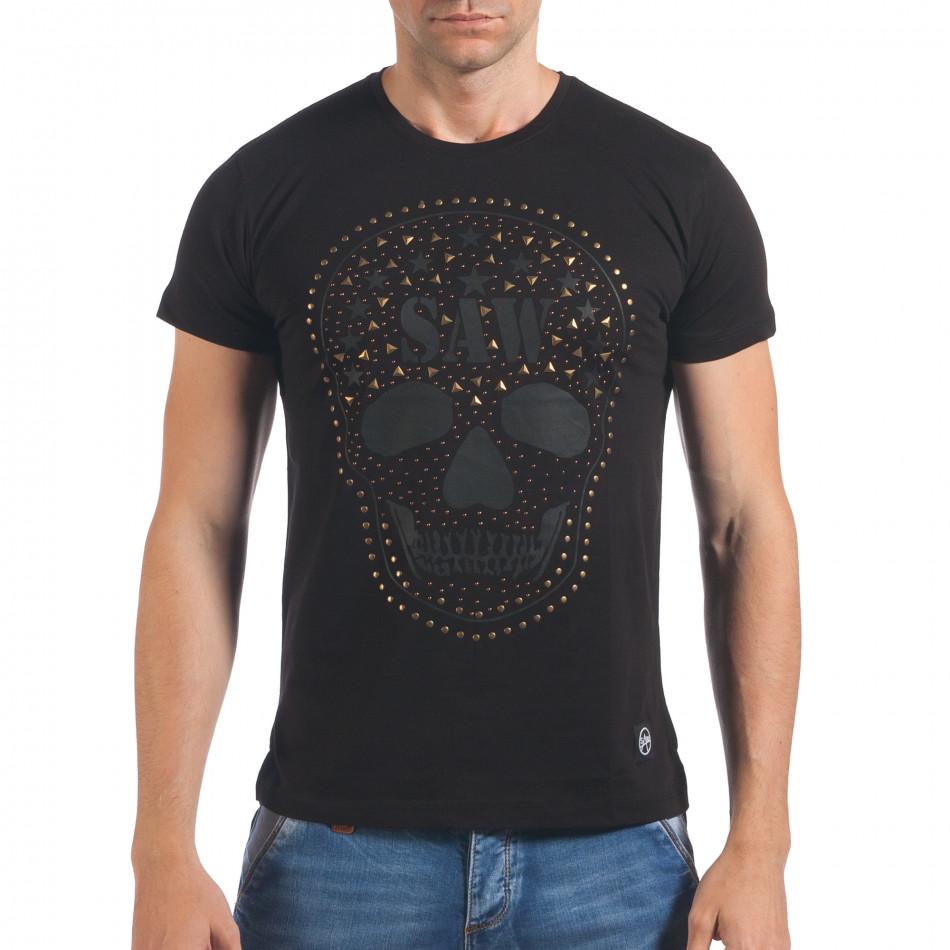 Tricou bărbați SAW negru il060616-22