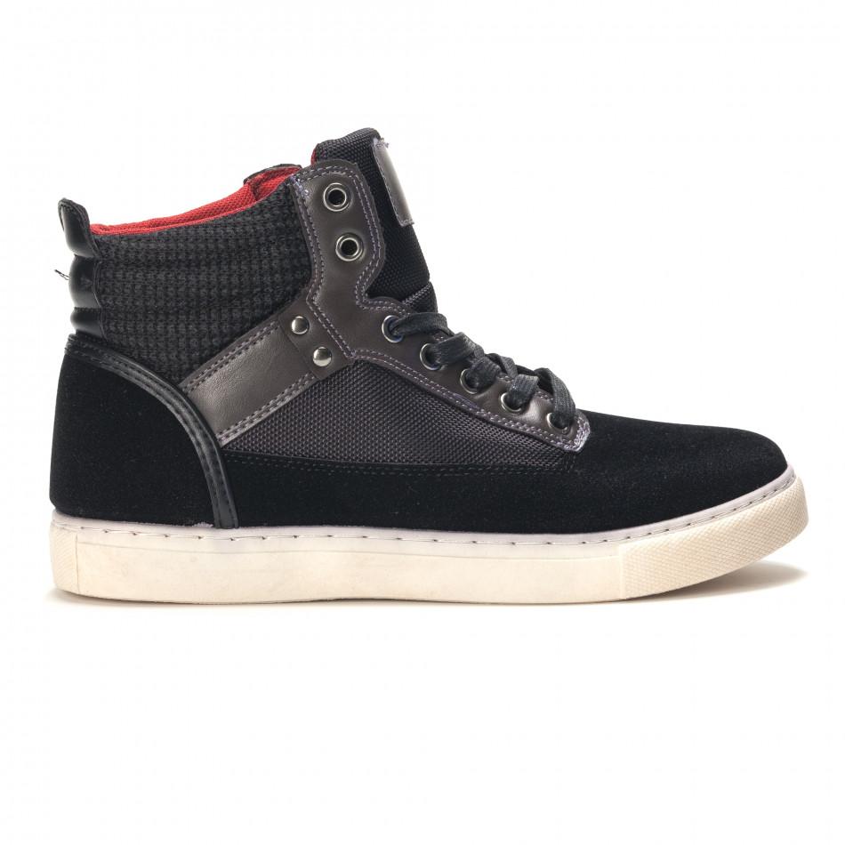 Pantofi sport bărbați Reeca negri it100915-22