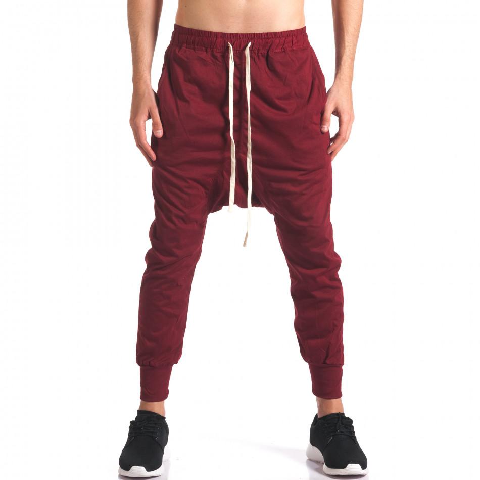Pantaloni baggy bărbați Hancity roșii it250416-4