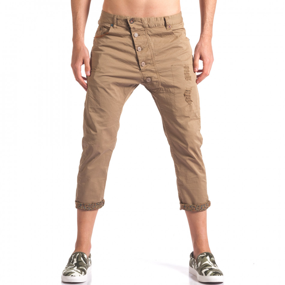 Pantaloni bărbați TMK maro it250416-28
