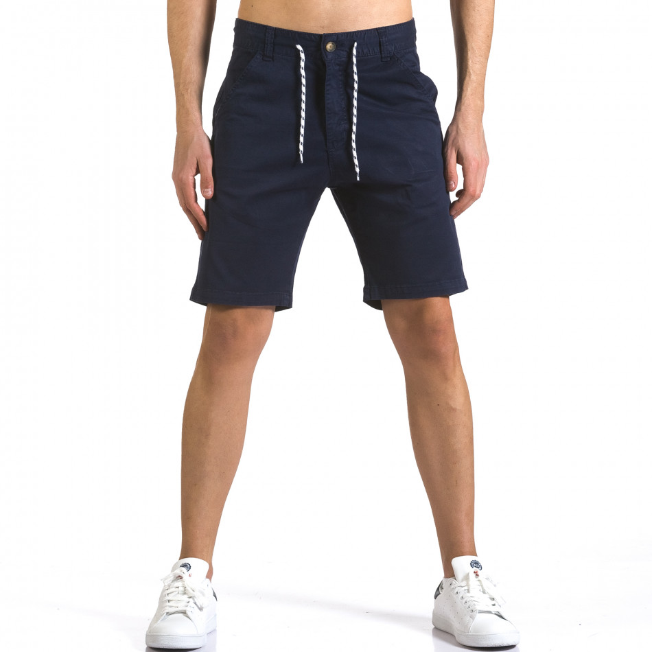 Pantaloni scurți bărbați Marshall albaștri it110316-41