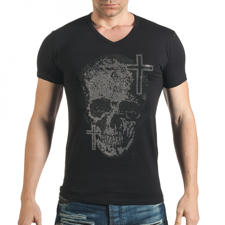 Tricou bărbați Berto Lucci negru il140416-9